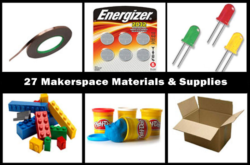 27 makerspace materials and supplies for makerspace projects