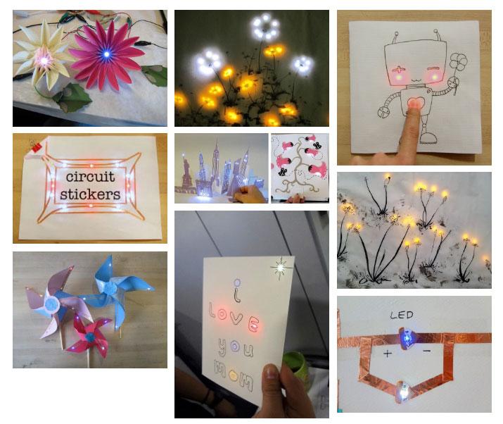 Paper Circuits Art Ideas