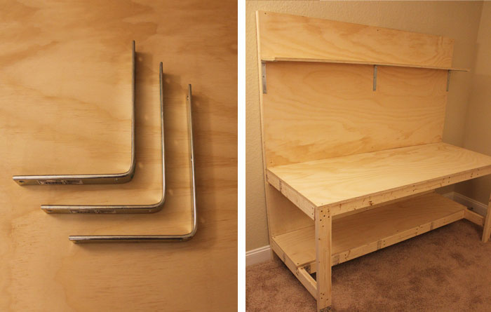 makerspace workbench shelf