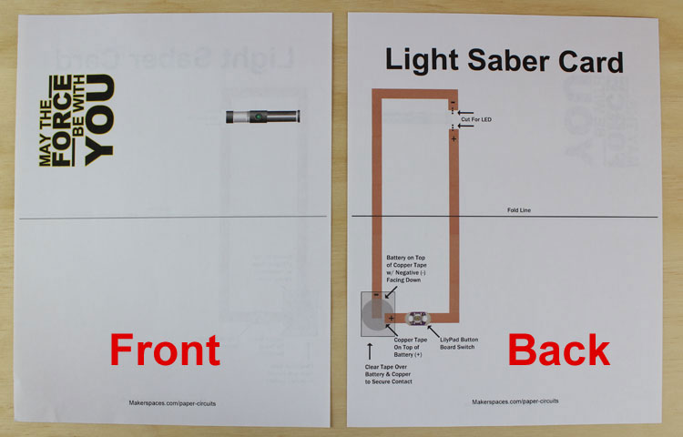 light saber template