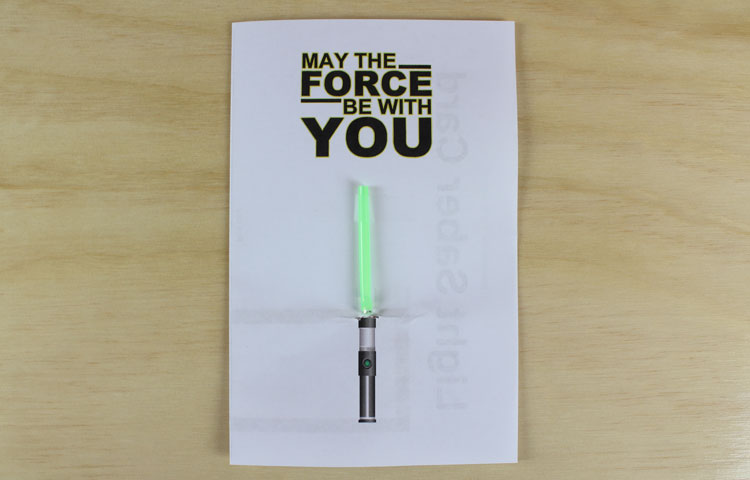 light saber paper circuit