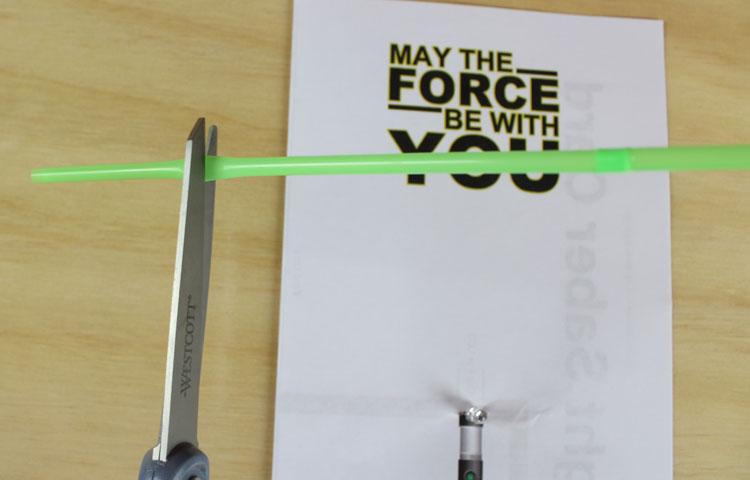 light saber paper circuit