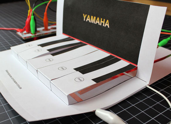 Makey Makey Popup Piano