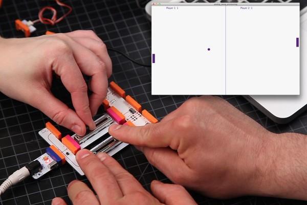 littlebits arduino pong game