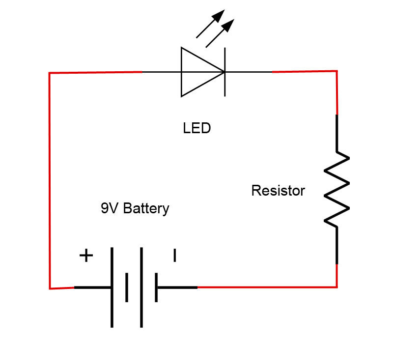 led symbol wiring diagram introduction to basic electronics  electronic components and projects  electronic components