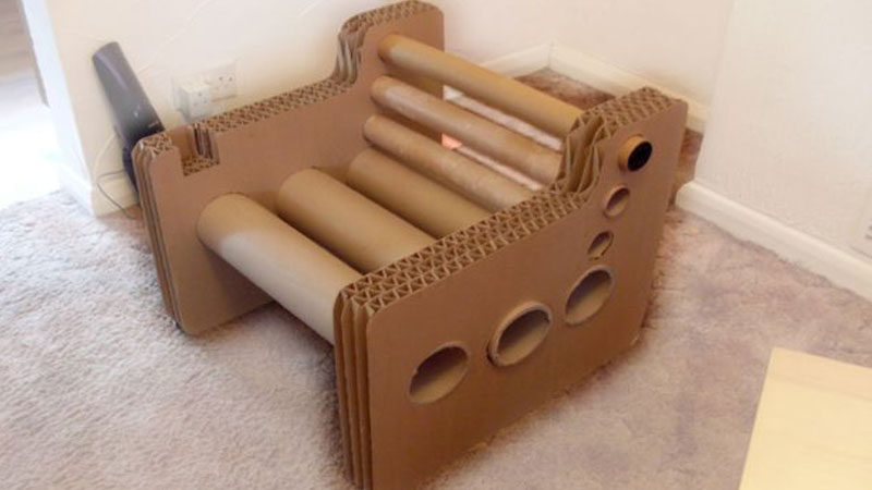 cardboard chair makerspace stem projects