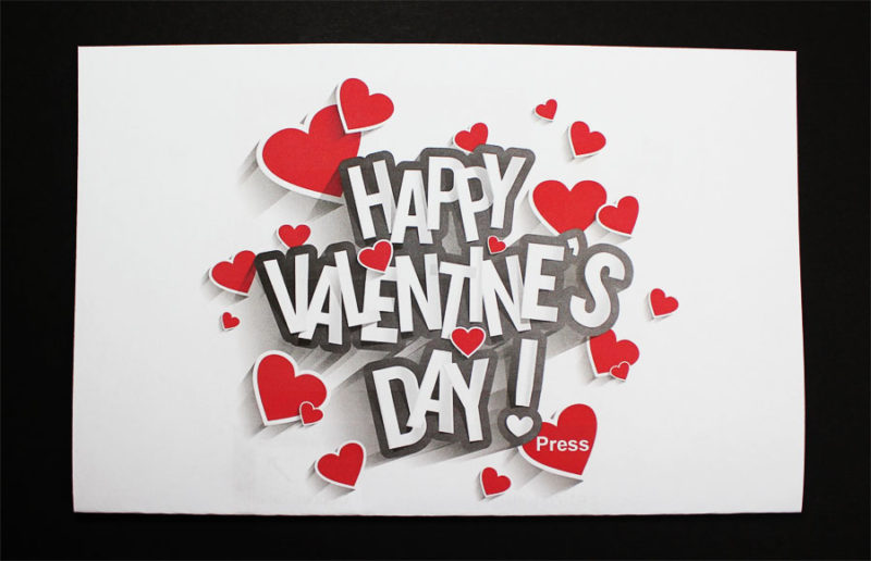 valentines day light up paper circuit card