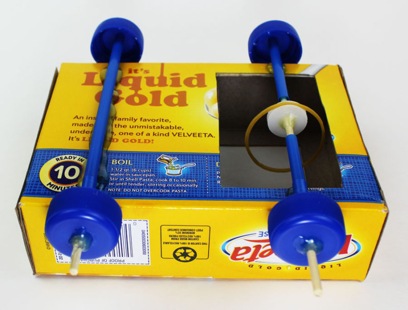 science makerspace project pulley car wheels