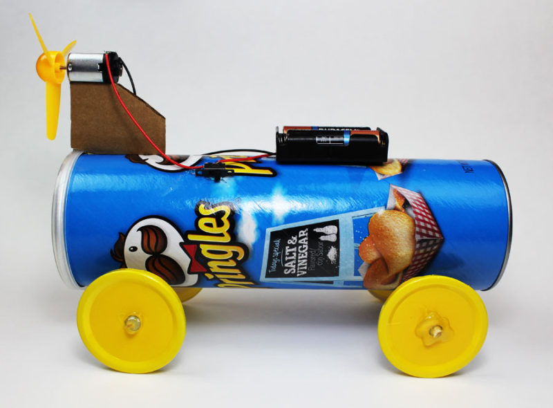 Make A Car >> Battery Powered Propeller Car Steam Makerspace Project