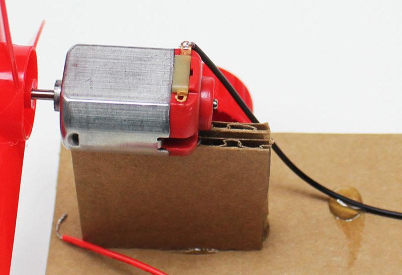 simple electric propeller car wiring