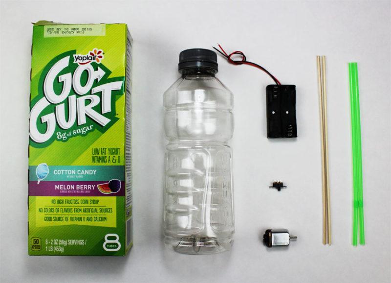 DIY mini electric battery car stem science fair project materials