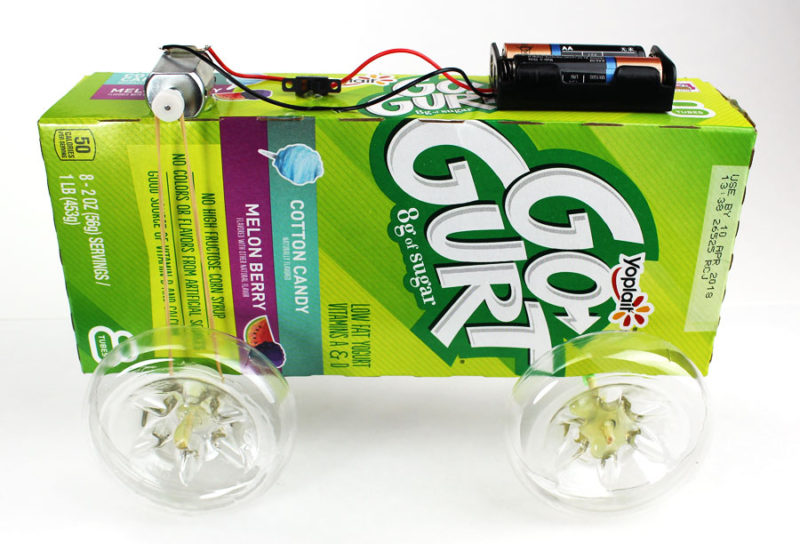 DIY Mini Electric Battery Car Project - Makerspace Tutorial