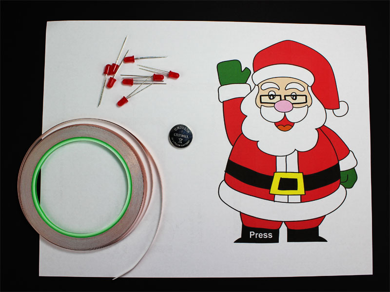 holiday christmas paper circuits templates