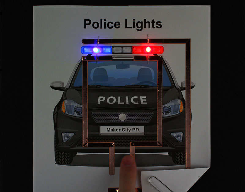 Paper Circuit Police Lights
