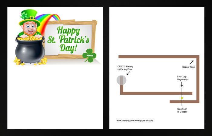 st patricks day paper circuits project