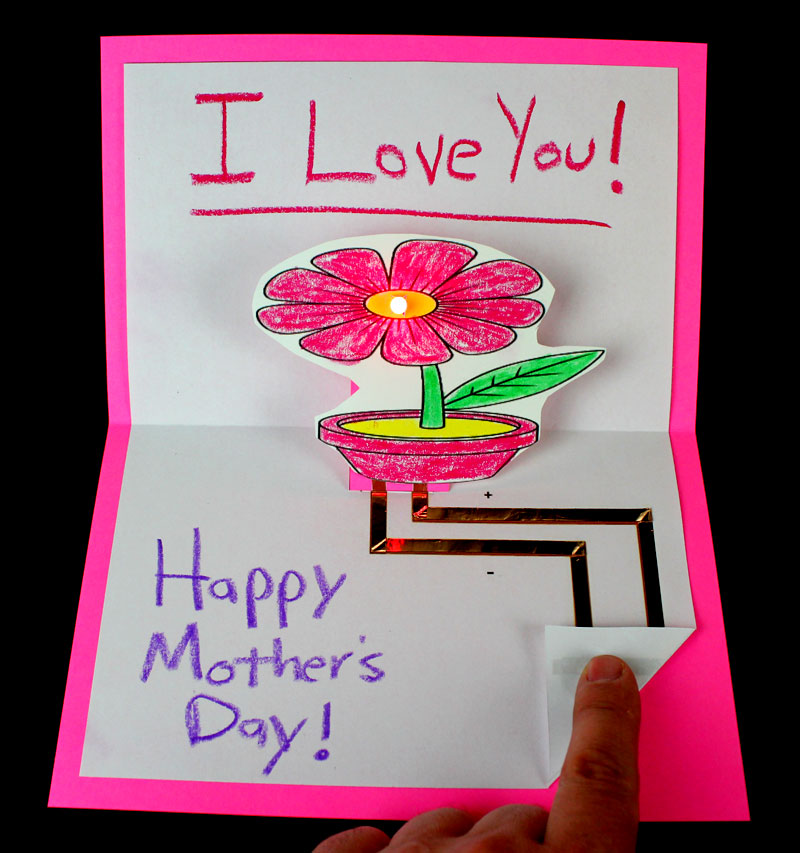 Mother's Day Pop Up Card That Lights