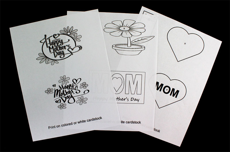 mothers day pop up card templates