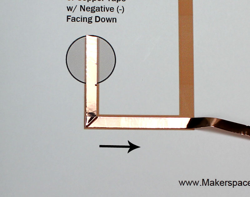paper circuit for fathers day copper tape