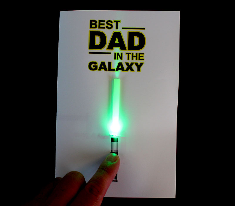 paper circuit light saber fathers day