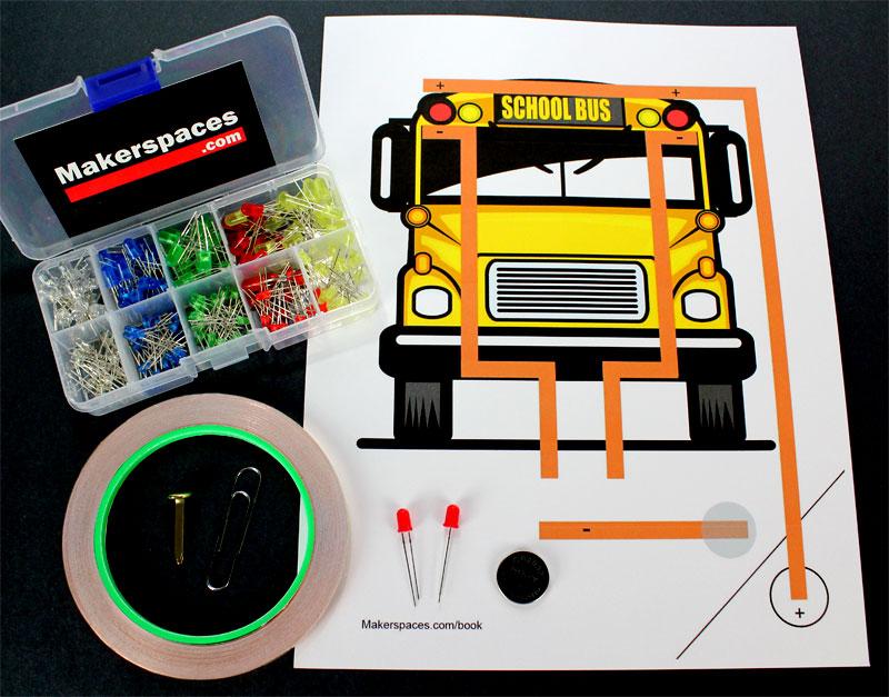 paper circuit school bus materials