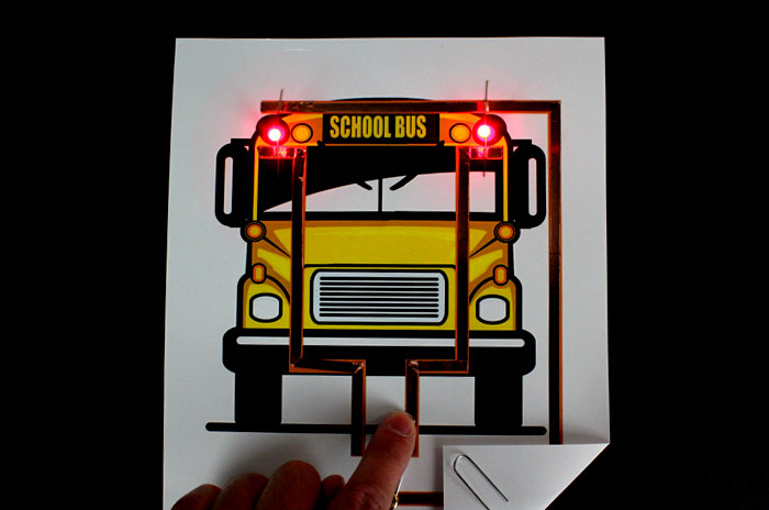 School Bus Paper Circuit Project