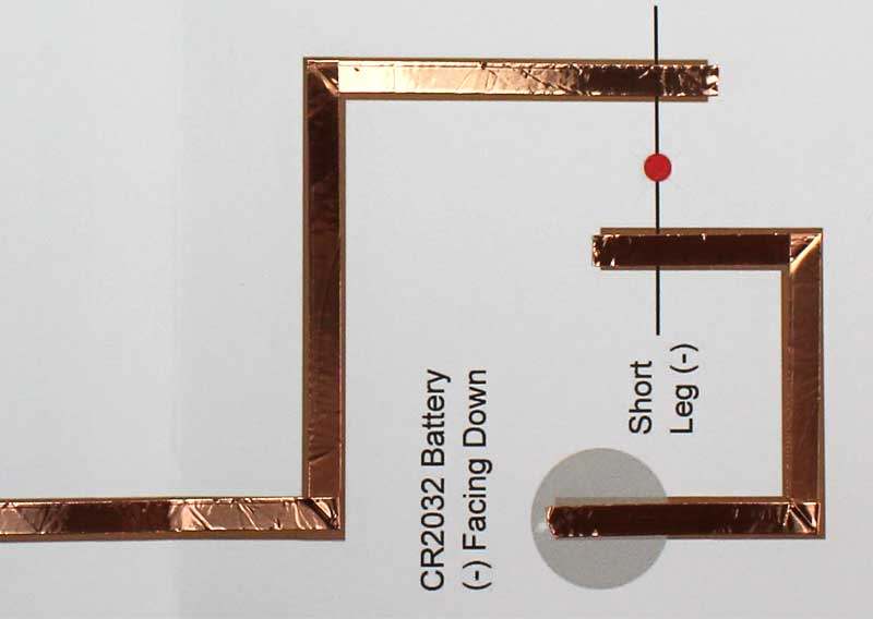 paper circuit valentines day card apply copper