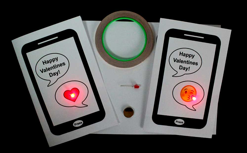 Valentines Day Paper Circuit Cards