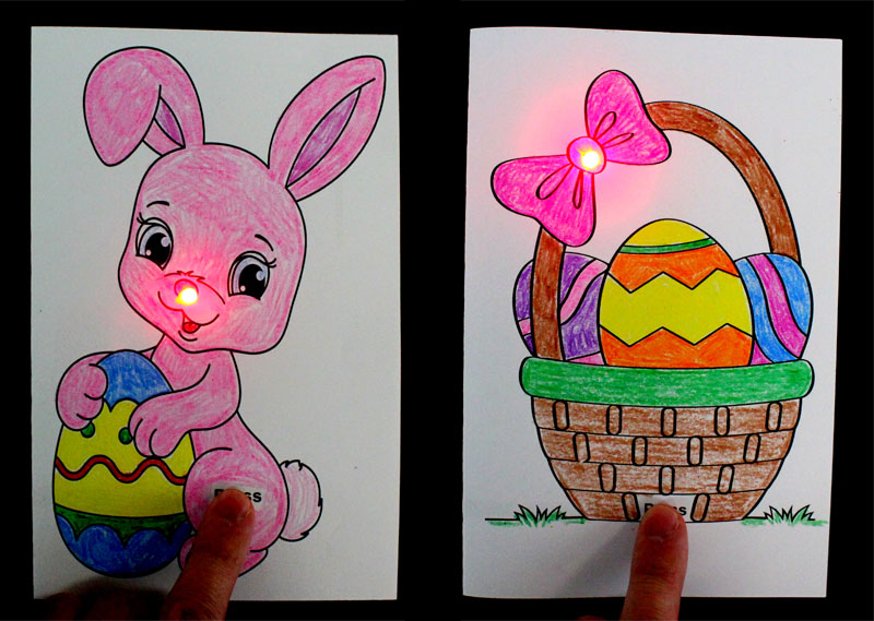 make easter paper circuits