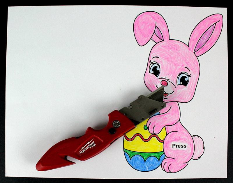 easter bunny paper circuits