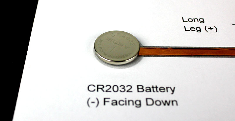 attach battery to template