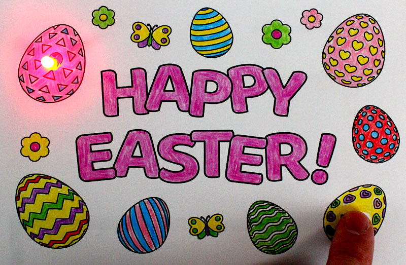 hppy easter paper circuits