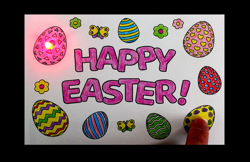 Happy Easter Paper Circuits Card