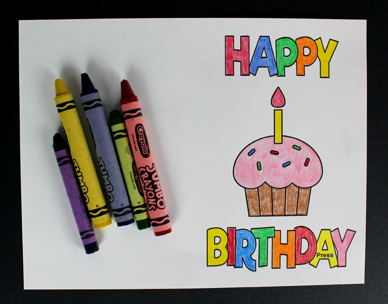 color happy birthday card template