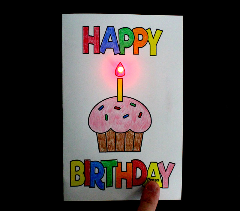 paper circuit happy birthday card