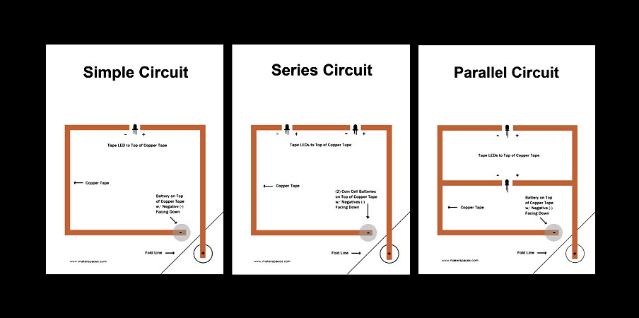 Simple, Series And Parallel Paper Circuits