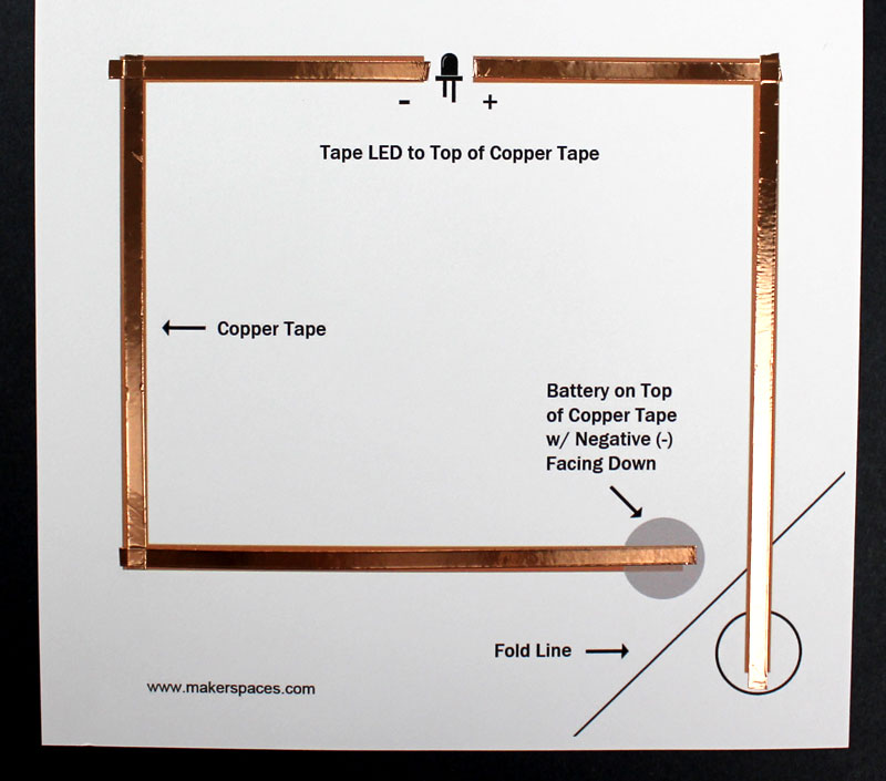 simple series and parallel paper circuits copper tape