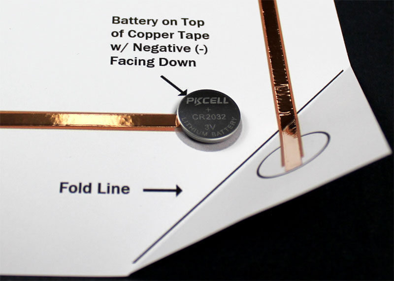 paper circuits coin cell battery