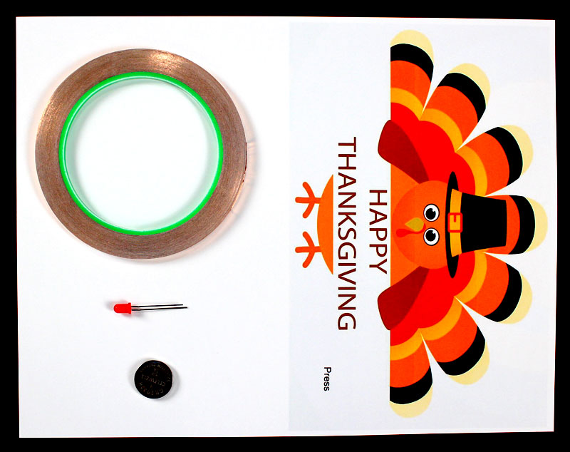 thanksgiving fall paper circuits materials needed